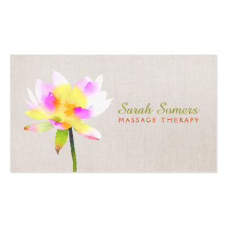 White Lotus Holistic Alternative Health Spa Business Card Template