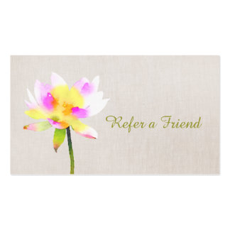 White Lotus Holistic Health Referral Card Pack Of Standard Business Cards