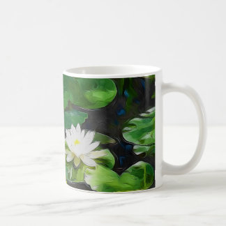 White Lotus In The Pond Coffee Mug