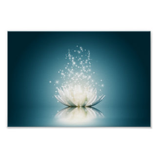 White Lotus Magic Mini Poster