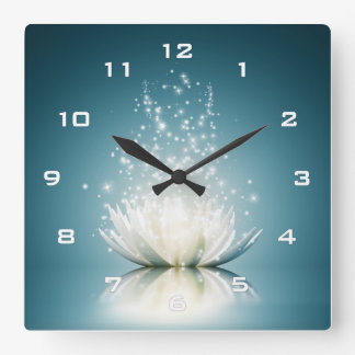 White Lotus Magic Wall Clock