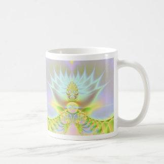 white lotus mug