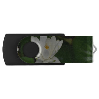 White Lotus Swivel USB 2.0 Flash Drive