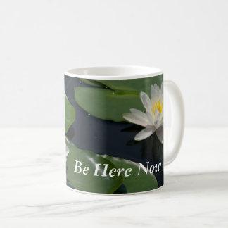 White Lotus Waterlilies Coffee Mug