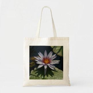 White Lotus Waterlily tote bag