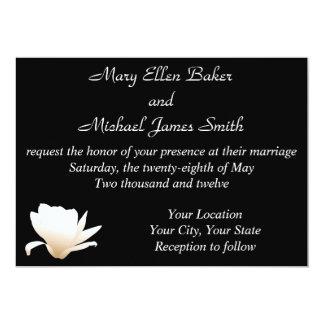 White Lotus Wedding Invitation