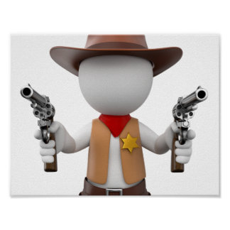 White Loui as sheriff Poster