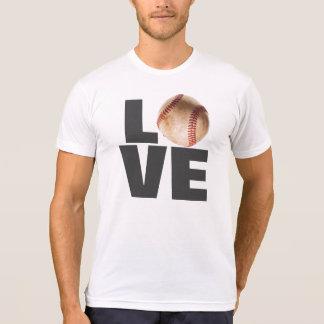 White Love Baseball T-Shirt