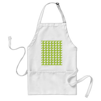 White Love Hearts on Lime Green Aprons