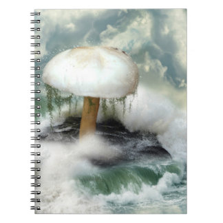 White Magic Mushroom Notebook