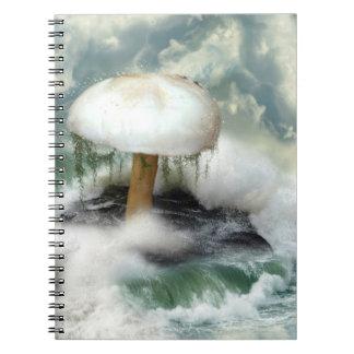 White Magic Mushroom Notebook