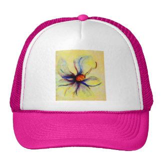 White Magnolia Flower Collage b copy Trucker Hats