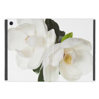 White Magnolia Flower Magnolias Floral Flowers iPad Mini Cover