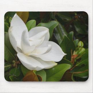 White Magnolia Mouse Pad