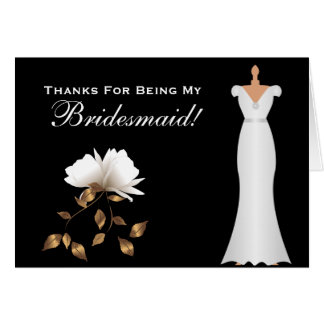 White Magnolia - Will You Be My Bridesmaid Card