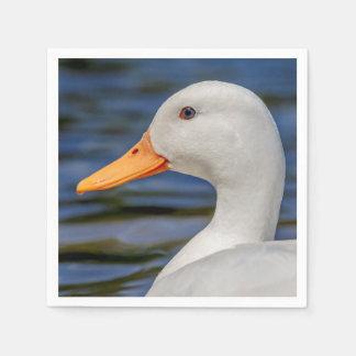 White Mallard Duck Paper Napkin