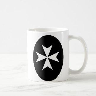 White Maltese Cross Coffee Mug