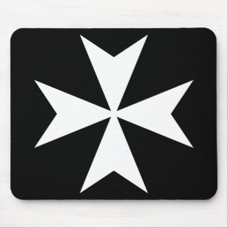 White Maltese Cross Mouse Mat