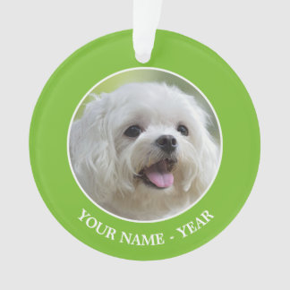 White Maltese Dog Ornament