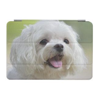 White maltese dog sticking out tongue iPad mini cover