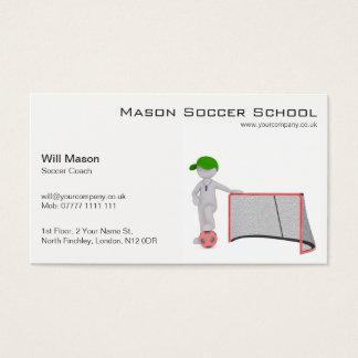 White man, Soccer Coach Business Card