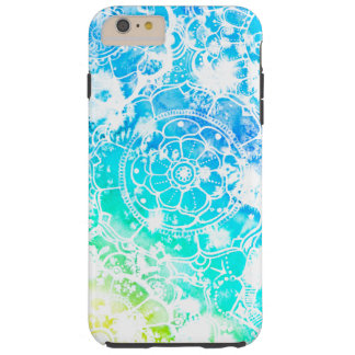 White Mandala on Watercolor iPhone Case