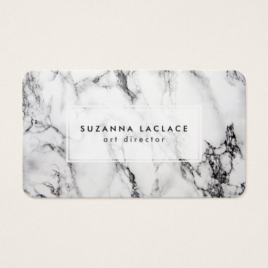 White Marble Business Card