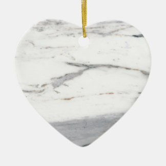 White marble ceramic heart decoration