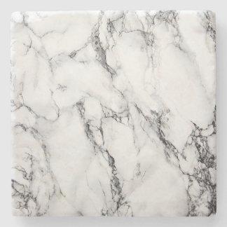 White marble coaster stone beverage coaster