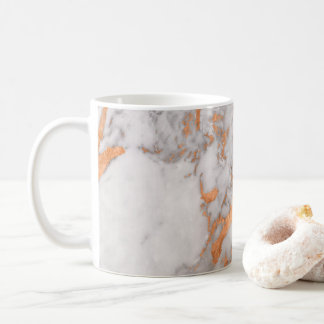 White Marble & Copper Cup