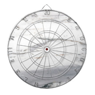 White marble dartboard