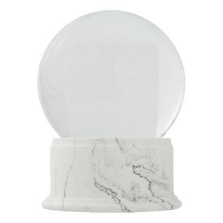 White Marble Finish Snow Globe