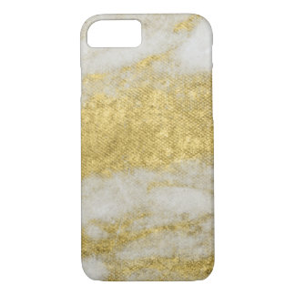 White Marble Gold Sparkles Phone Cases