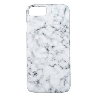 White Marble iPhone 7 Barely There Phone Case