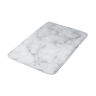 white marble look bath mat
