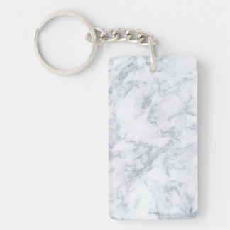 White Marble Look Key Ring