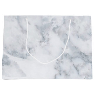 White Marble Look Large Gift Bag
