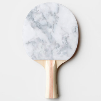 White Marble Look Ping Pong Paddle