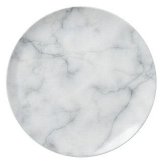 white marble look plate