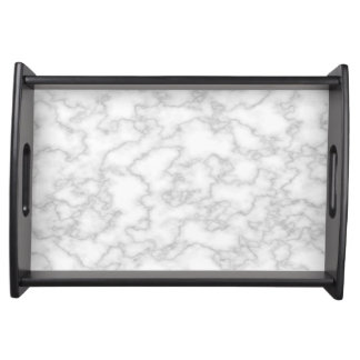 White Marble look Serving Tray
