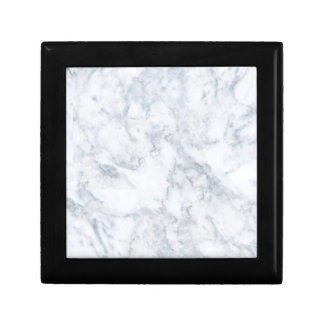 White Marble Look Small Square Gift Box