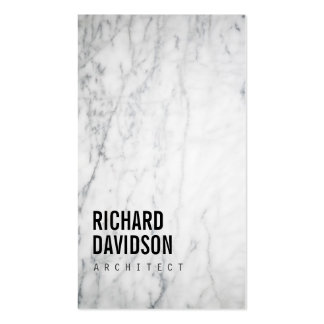 White Marble Modern and Professional Pack Of Standard Business Cards