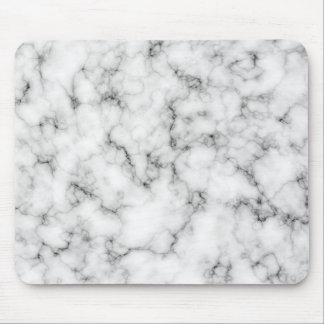 White Marble Mouse Pad
