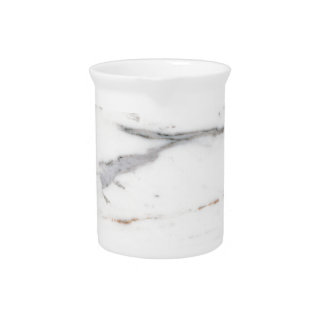 White marble pitcher