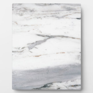 White marble plaque