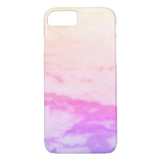 White Marble Rainbow Phone Cases
