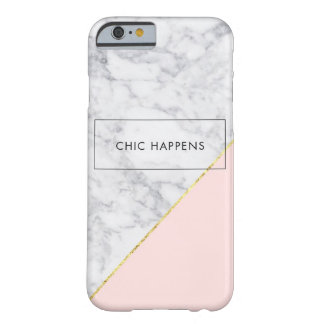 White Marble, Rose Gold iPhone 6/6s, Barely There Barely There iPhone 6 Case