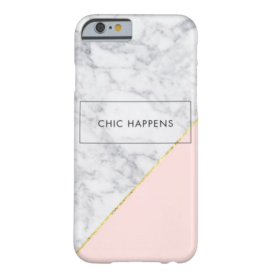 White Marble, Rose Gold iPhone 6/6s, Barely There