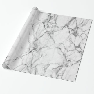 White Marble Stone Print Wrapping Paper