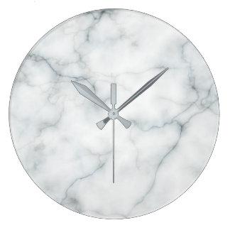 white marble stone wallclock